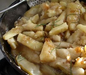 Glazed Parsnips Pears with Garlic Onion Jam