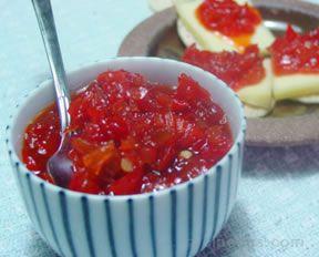 red pepper jam Recipe
