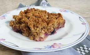 Apple  Blueberry or Huckleberry Crisp