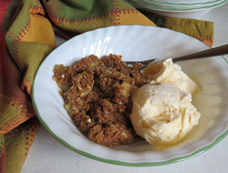 apple crisp with oatmeal topping Recipe