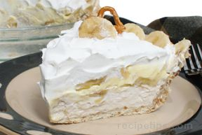 banana cream pie with pretzel crust Recipe