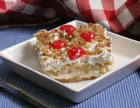 Banana Split Cake with Cherries Recipe