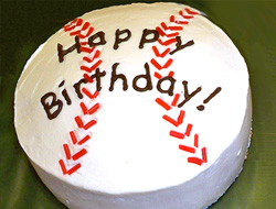 Admirable Baseball Cake Recipe Recipetips Com Funny Birthday Cards Online Fluifree Goldxyz