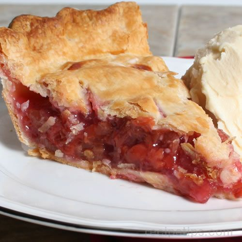 Rhubarb And Cherry Pie Recipe Recipetips Com