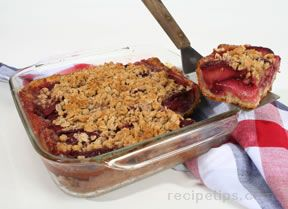 Blood Peach Cobbler