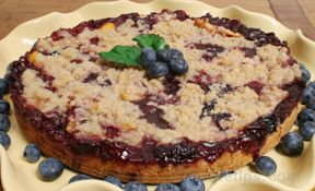 Blueberry and Peach Tart