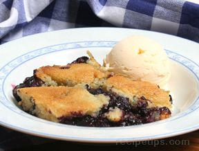 Blueberry Buckle with Fresh Berries