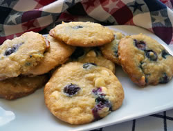 Blueberry White Chocolate Chip Cookies Recipe
