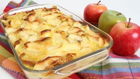 Pear and Apple Bread Pudding