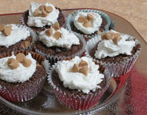 Brownie Peanut Butter Cupcakes