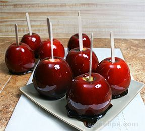 Fire Red Candy Apples