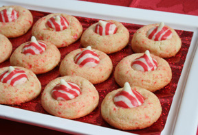 Candy Cane Kiss Cookies Recipe