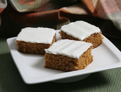 Carrot Bars with Cream Cheese Frosting