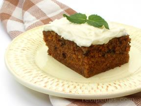 Carrot Raisin Cake Recipe