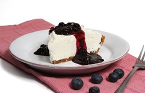 No-Bake Cheesecake and Blueberry Topping