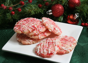 Cherry Almond Shortbread Cookies