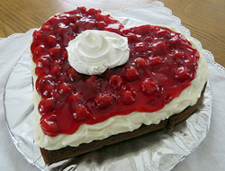Cherry Devils Food Sweetheart Cake