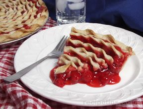 Cherry Pie with Spiral Crust