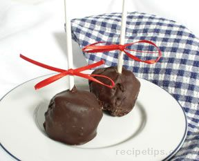 Chocolate Dipped Cheesecakes on a Stick
