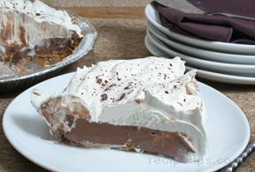 Chocolate Vanilla Pudding Pie