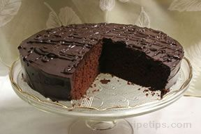 chocolate cake with ganache frosting Recipe