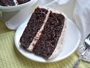 Chocolate Chip Sour Cream Chocolate Cake