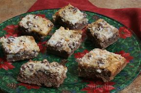 chocolate coconut bars Recipe