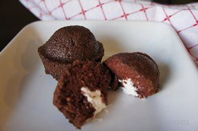 Chocolate Cream Filled Cupcakes