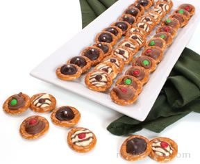 chocolate drop pretzels Recipe