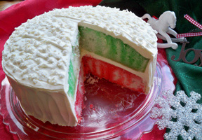 Christmas Layered Cake Recipe