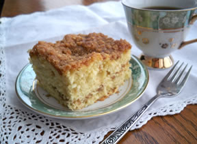 Cinnamon Streusel Layered Coffee Cake