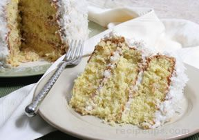 coconut triple layer cake Recipe