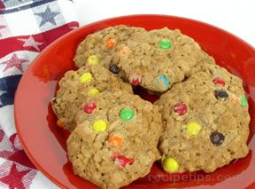 M & M Oatmeal Cookies Recipe