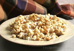 microwaved caramel corn Recipe
