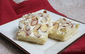 Cream Cheese Almond Bars Recipe