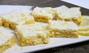 cream cheese lemon bars Recipe
