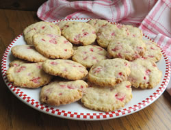Crispy Cherry Chip Cookies