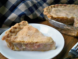 double crust rhubarb pie Recipe