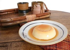 Light Flan with Caramel Sauce