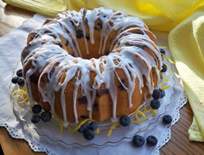 fresh blueberry and lemon bundt cake Recipe