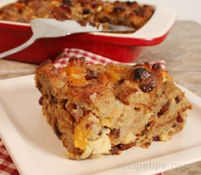 Fruit and Raisin Bread Pudding Recipe