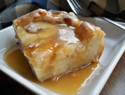 Grandmas Bread Pudding with Caramel Sauce