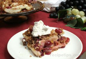 Grape Pear TartnbspRecipe