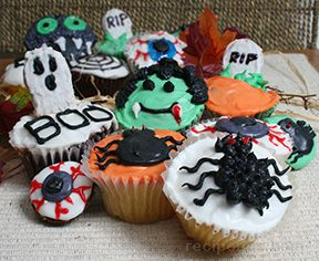 Homemade Halloween Yellow Cupcakes Recipe