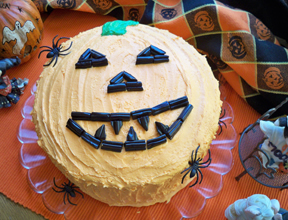 halloween pumpkin cake Recipe