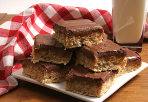 krispy caramel bars Recipe