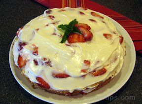 Layered Strawberry Pound Cake