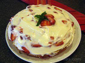 Layered Strawberry Pound Cake