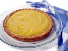 Lemon Tart with Walnut Shortbread Crust