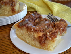 Maple Glazed Cinnamon Cake